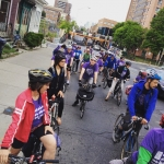 Group ride along Bloor St for Bike to Work Day.…